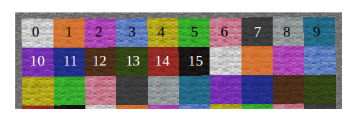 mcpi-wool-color-withnumber